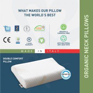 Double comfort pillow