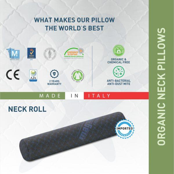 Neck roll pillow