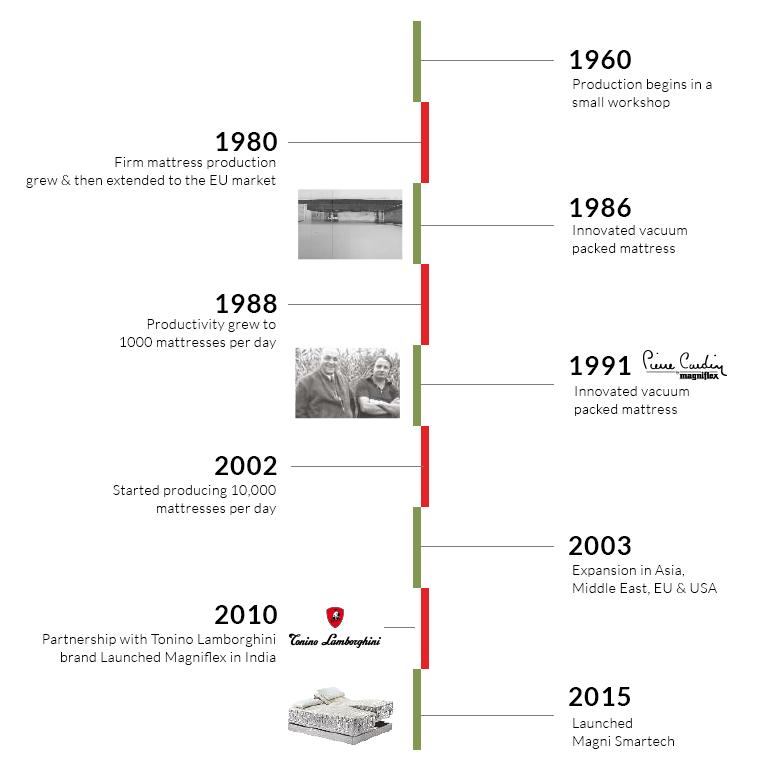 Magnflex Timeline